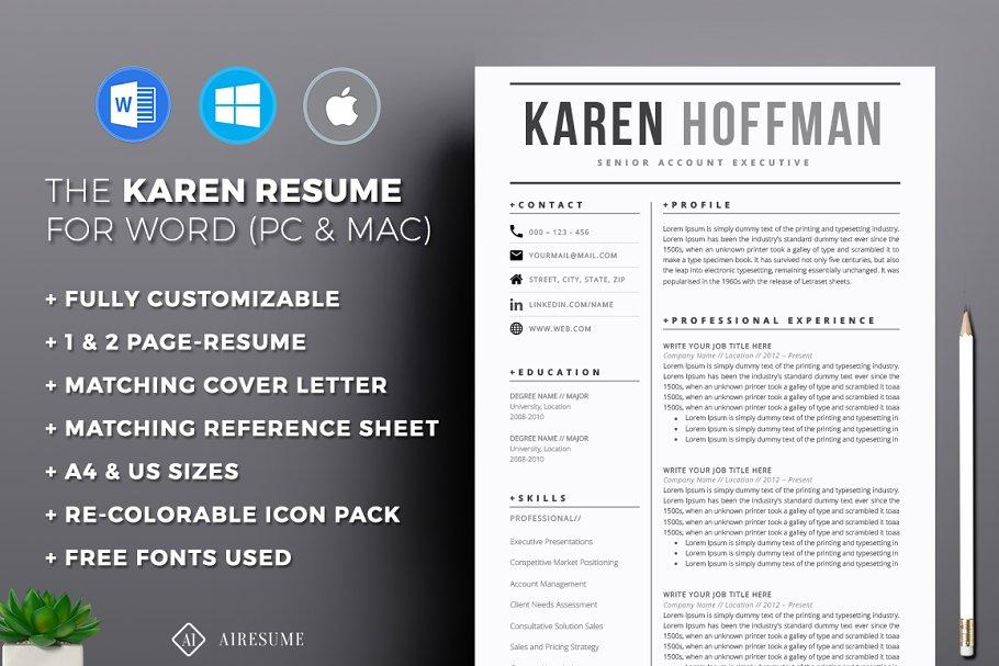 Modern Resume Template Resume Templates Creative Market Pro