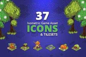 37 Fantasy Isometric Tileset Icons