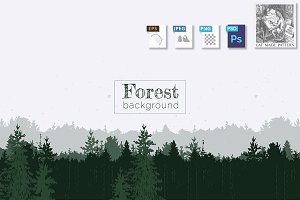 Forest panorama background