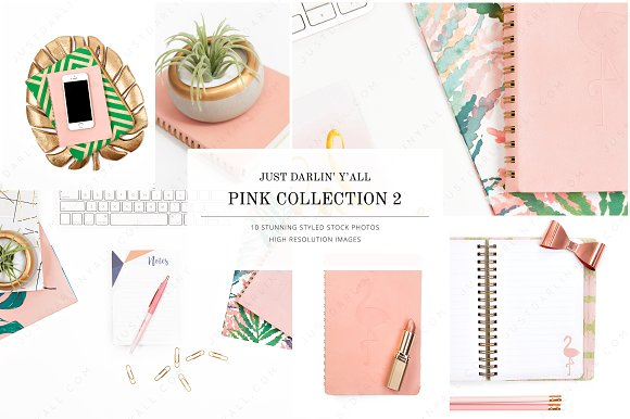 Pink 2 Styled Stock Photos