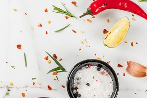 Marble cooking food background