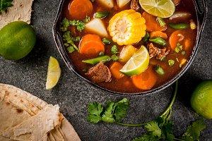 Vegetable soup Mole de olla