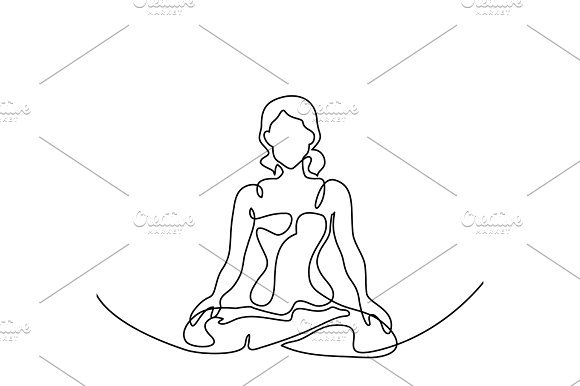 Woman Doing Exercise Yoga Lotus Pose