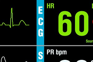 Patient display medical exam vital signs