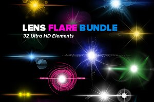32 HD Optical Lens Flares & Stars