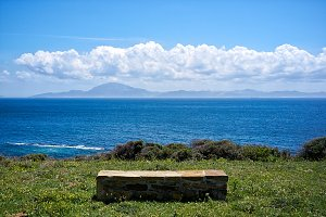 Stone Seat with Views to Africa.