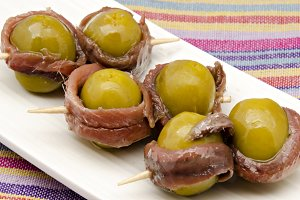 Appetizer of olives