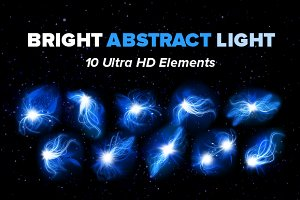 10 HD Abstract Light Fractals Flares