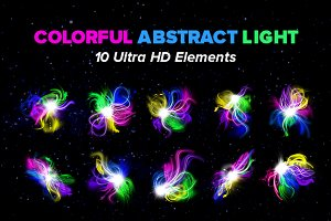 10 HD Colorful Light Fractals Flares