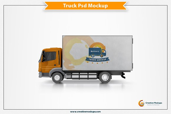 Delivery Truck Mockup Template - Product Mockups