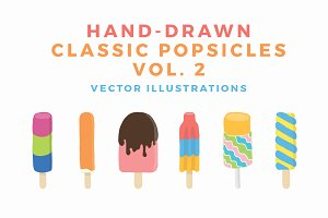 Hand Drawn Classic Popsicles Vol 2