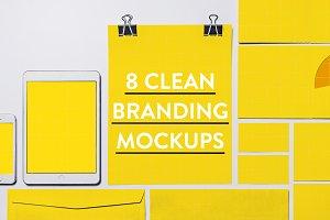 8 Clean Identity & Branding Mockups