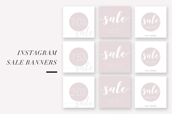 Instagram Sale Banners BlushScript