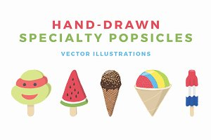 Hand-Drawn Specialty Popsicles