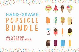 Hand Drawn Popsicle Vector Bundle