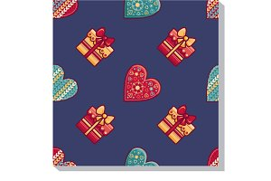 Merry Christmas. Seamless pattern.