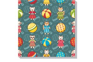 Baby Toy. Seamless pattern.