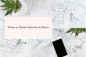 Marble on White Styled Stock Photos