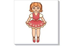 Little Ballerina. Pretty girl.