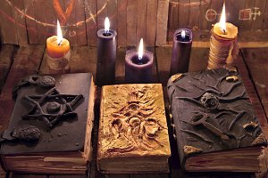 Three magic books