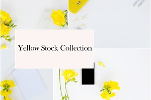 The Yellow Styled Stock Photos