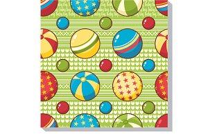 Balls. Seamless pattern.