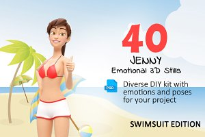 Jenny Swimsuit Character Promo Kit