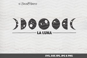 Moon Phases SVG Cut & Print Files
