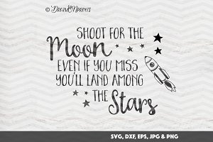 Moon and Stars SVG Cut & Print Files