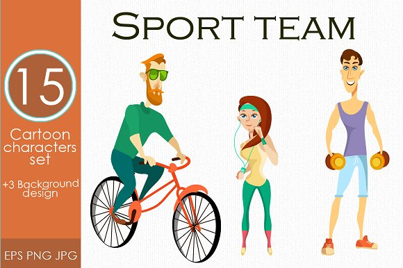 Fitness Characters Sport People