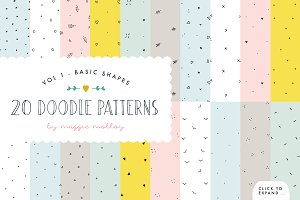 Hand Drawn Patterns Vol. 1 Shapes