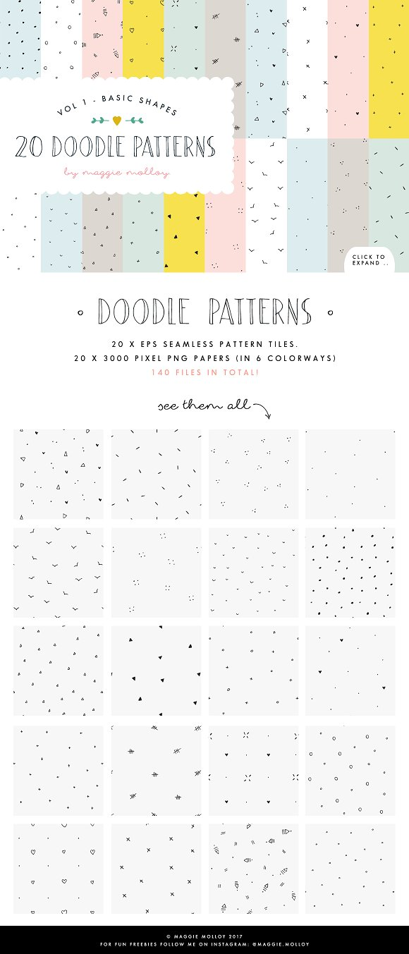 Hand Drawn Patterns Vol. 1 Shapes