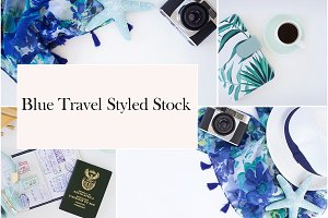 Blue Travel Styled Stock Photos
