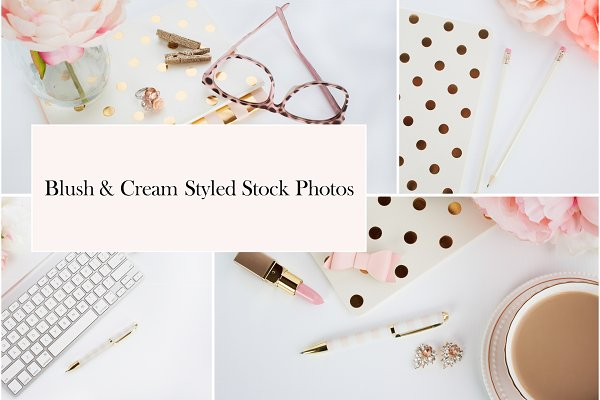 Blush & Cream Styled Stock Photos