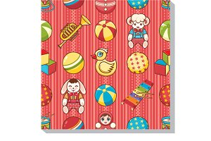 Seamless pattern. Children's toys.