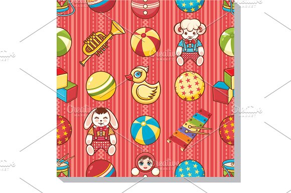 Seamless Pattern Children's Toys