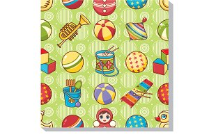 Children's toy. Seamless pattern.