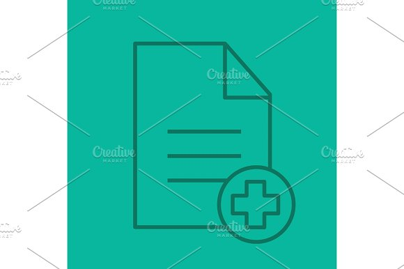 Patient Card Linear Icon