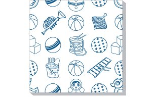 Seamless pattern. Children's toy.