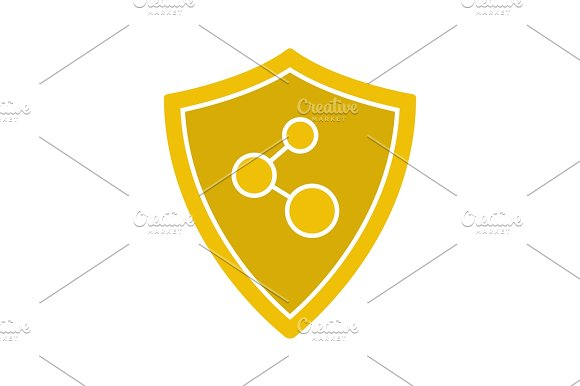 Network Connection Security Glyph Color Icon