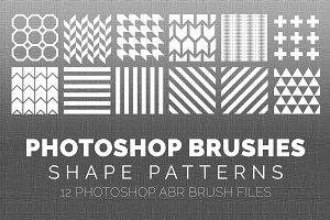 12 Pattern Photoshop Brushes