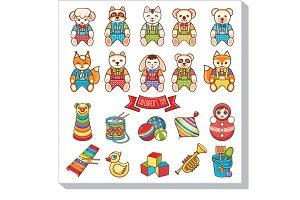 Children's toy. Animals. Set.