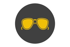 Sunglasses glyph color icon