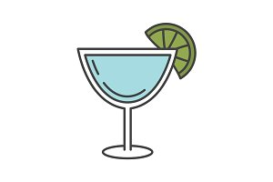 Margarita cocktail color icon