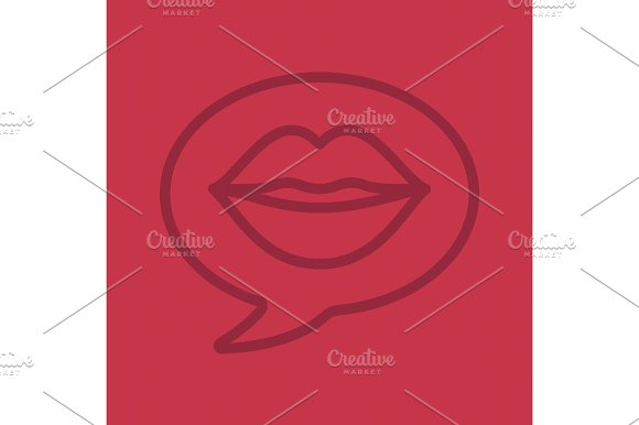 Erotic Talk Color Linear Icon