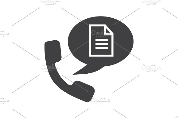 Phone Call For Instructions Glyph Icon Icons Creative Market