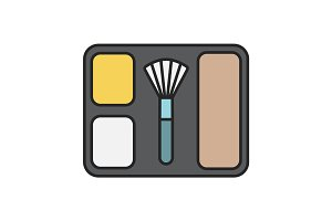 Blusher color icon