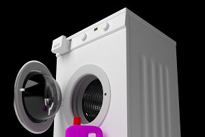 washing machine with detergent