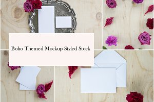 Boho Themed Mockup Styled Stock