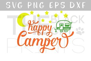 Happy Camper SVG PNG EPS DXF
